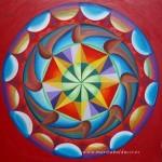 """MANDALA """"LA PLAYA"""" Ptura sobre madera(60x60cm)pintura acrílica.Significado de los colores.VERDE.Naturaleza, crecimiento, esperanza.NARANJA.Energia, dinamismo. ambición,optimismo.AZUL.Calma, paz, tranquilidad.VIOLETAMagia, espiritualidad, transformación."""