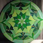 Mandala CORAZÓN,lienzo pintado a mano 50 cm de diámetro